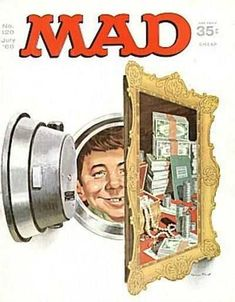 mad magazine in Books, Comics and Magazines Mad Magazine, Magazine Covers, Cool Hand Luke, Mad World, You Mad, Funny As Hell, Magazine Articles, Comic Book Covers, Vintage Comics