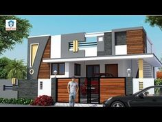 17 Ideas Exterior House Design Front Elevation For 2019 Single Floor House Design, House Front Design, Small House Design, Modern House Design, Indian Home Design, Kerala House Design, Bungalow Haus Design, Duplex House Design, Independent House