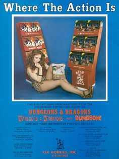 Sexy Dungeons and Dragons ad campaign from the 80s