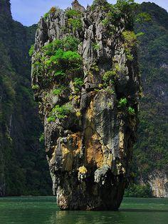 James Bond Island or Khao Phing Kan - Phuket, Thailand. via whl.travel.