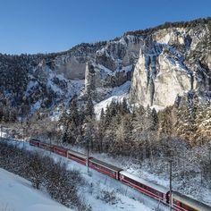 Rheinschlucht im Winter