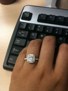 Radiant Cut ring in Halo Setting - Pics anyone?? :  wedding engagement ring halo radiant cut Reset1