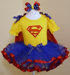 Hey, I found this really awesome Etsy listing at https://www.etsy.com/listing/205619092/girls-superman-tutu-costume-for
