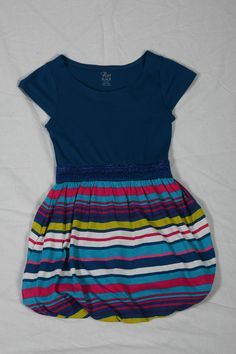 Blue Striped Bubble Dress - $29.95 @ Children's Place Children's Place, Back To School, Mall, Bubble, Centre, Blue, Tops, Dresses, Women