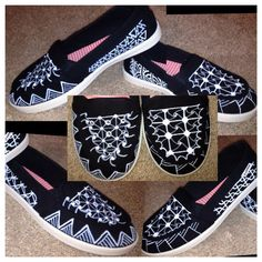 Zentangle Canvas Shoes by WinkandTangle on Etsy, $85.00: made to order; color and style choice available