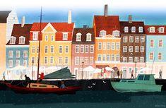 copenhagen city illustration