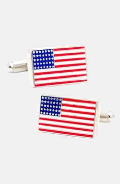 Future hubby veterans day gift! Cufflinks, Inc. 'American Flag' Cuff Links available at #Nordstrom