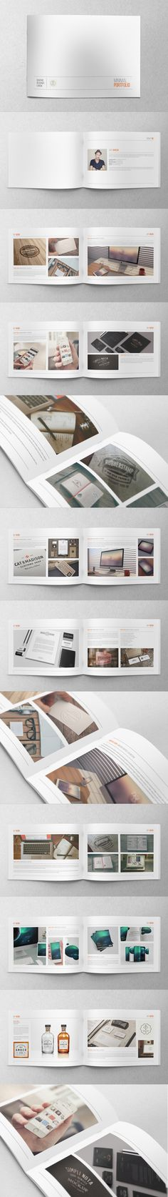 Minimal Hipster Design Portfolio by Abra Design, via Behance