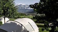 Kamperen met een hoofdletter in Südtirol. #suedtirol #kamperen #vakantiekriebels #campervaria #camperreismagazine #camping