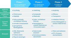 3-Phasen-Modell der DWH-Sanierung #PPIAG #Data #Analytics #DWH Software, Dna, Finance, Scale Model, Gout