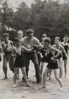 Boys boxing in Washington D.C.Photograph by Orren R. Louden, National Geographic