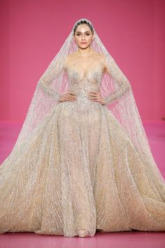 All Of The Most Whimsical Wedding Dresses We Want To Wear From Couture Week Couture Week, Haute Couture Fashion, Couture Wedding Gowns, Wedding Dresses, Couture Dresses, Tony Ward, Armani Prive, Whimsical Wedding, Zuhair Murad