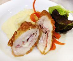 Denné menu Vranov | Vyprážaný kurací gordon blue, zemiaková kaša - reštaurácia Hotel Patriot*** #hotel #restauracia #dennemenu