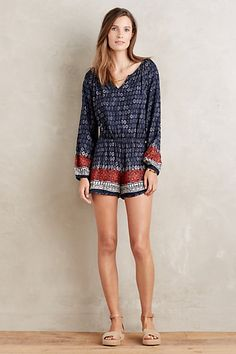 Love a romper with long sleeves and shorts - Nandini Romper #anthropologie