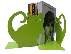 Cute Vivid Lovely Persian Cat Nonskid Thickening Iron Metal Bookends Book Organizer For Library School Office Home Study Desk organizer Green >>> To view further for this item, visit the image link.
