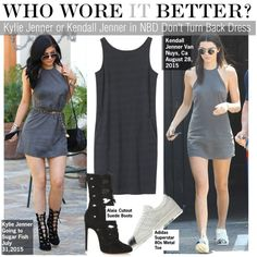 Who Wore It Better?Kylie Jenner or Kendall Jenner in NBD Don't Turn Back Dress by kusja on Polyvore featuring moda, Toast, Alaïa, WhoWoreItBetter, kendalljenner, KylieJenner and wwib