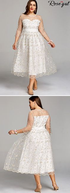 e0d61bfe3ff Free shipping worldwide.Plus Size Embroidery Floral Tulle Tea