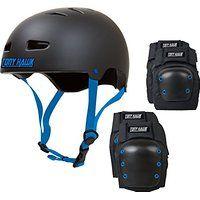 Cheap TONY HAWK Skateboard Helmet Elbow/Knee/ Pad Combo Bmx Inline CPSC sale