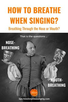 How to breathe when singing? Should I breathe through the nose or mouth? Common questions about breathing for singing answered here. Singing Lessons, Singing Tips, Singing Quotes, Music Lessons, Art Lessons, Vocal Exercises, Vocal Range, Review Games, Your Voice