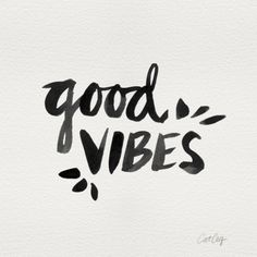 Good Vibes – Black Ink Art Print, quote wall art, word art, quote print, black & white typography poster, quote poster, written art