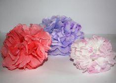 Kvety zo servitiek a krepového papiera - foto postup
