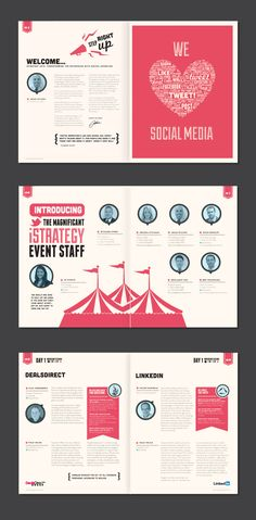 Event Guide, from Behance | #booklet #inspiration #magazine