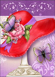 Red Hat Butterfly Note Card Set
