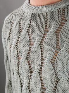 AVANT TOI cable knit sweater (Interesting drop stitch detail between the cables)