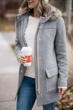 Parkas, Poms + Parenting Fails – my kind of sweet - winter fashion Winter Fashion Outfits, Fall Winter Outfits, Autumn Winter Fashion, Winter Wear, Winter Dresses, Fashion Spring, Fashion Dresses, Looks Style, Style Me
