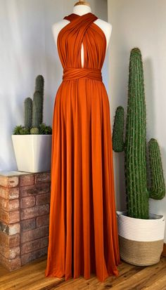 Burnt Orange Bridesmaid Dresses, Wedding Bridesmaid Dresses, Multi Wrap Dress, Convertible Dress, Infinity Dress, Fall Wedding Colors, Event Dresses, Maid Of Honor, Plus Size Dresses