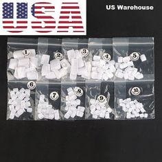 500pcs White uv Gel nail Acrylic False Toe 3D Nails Art Tips UV beauty manicure #Unbranded