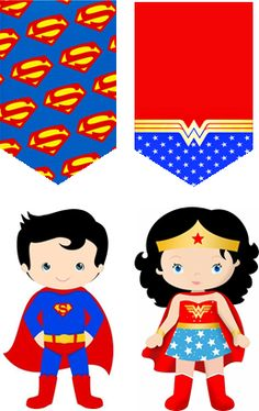 Hero Crafts, Wonder Woman Party, Mundo Marvel, Cute Cartoon Characters, Hollywood Theme, Class Decoration, Superhero Party, Teacher Appreciation Gifts, Diy Doll