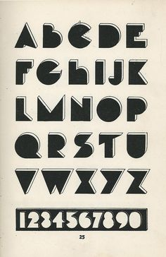 Vintage Modern Typography Alphabet from Lettering of Today, 1930.