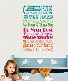 Classroom Vinyl Wall Decals | Wall Decal Teacher Classroom Rules Vinyl Wall Art - Teacher Vinyl Wall ...