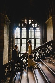 Pre-Wedding Photos Knox College, Toronto, Canada. Love this photo the architecture really sets the mood.