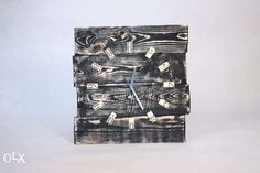 zegar domino rustykalny, loft, handmade, vintage, shabby duży 40cm Czerwionka-Leszczyny - image 2
