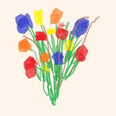 EUL Un buketu d'flori por ma amika a lu primu d'anu novus.  ENG A bouquet of flowers for my girl friend at the beginning of the new year.  DEU Ein Blumenbukett für meine Freundin zu Beginn des neuen Jahres.