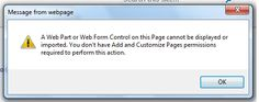 Error while importing a webpart. It is not registered as safe. http://www.sharepoint-zone.com/2014/01/cannot-import-web-part-not-registered.html
