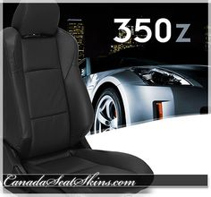 2003 - 2008 Nissan 350Z Custom Black Leather Upholstery Package - Visit Us at canadaseatskins.com  #leatherseats #automotiveleather #nissan