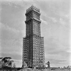 Construção do Mausoléu ao Soldado Constitucionalista - Obelisco do Ibirapuera  Ano: década de 1960  Autor: desconhecido