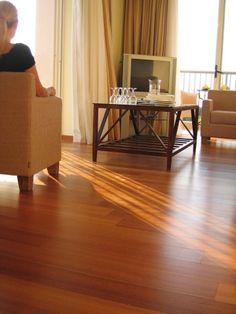 Wood veneer flooring - PAR-KY Lounge Teak sealed
