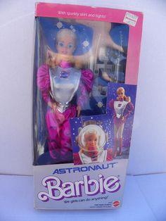 Vintage Mattel Barbie , 1985 Astronaut Barbie NRFB , Fashion Doll , Barbie New In Box , Career Barbie , Barbie At Work , Space Barbie Doll by ShersBears on Etsy