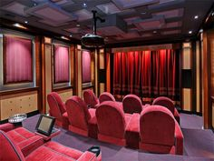 Home theater in luxury home in Paradise Valley, Arizona