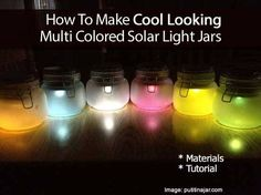 How To Make Solar Powered Mason Jar Lights