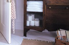 Tame a busy, cluttered bathroom with our simple organization tips. http://www.homemadesimple.com/en-us/homeorganization/pages/organized-bathroom-ideas.aspx