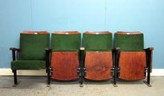 Vintage Cinema Seats, Reclaimed Retro perfect for the poolroom Lobby Interior, Cafe Interior, Interior Styling, Interior Design, Cinema Chairs, Cinema Seats, Theater Seats, Deco Cinema, Cinema Room