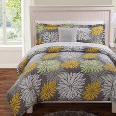 Luxury Home Studio Floral 12 Piece Comforter Set & Reviews | Wayfair