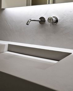 ANTONIO LUPI WALL MOUNTED OR ON FURNITURE TOP WITH ONE OR TWO INTEGRATED SINKS VARIOUS SIZES COLDSTONE SERIES