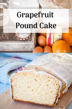 Grapefruit Pound Cake packs a tangy sweet punch with a little fresh grapefruit bitter taste on the backend. This is the perfect way to use a couple of abundant mid-winter red grapefruits. Grapefruit Pound Cake Recipe, Grapefruit Recipes Dessert, How To Eat Grapefruit, Pound Cake Recipes, Easy Cake Recipes, Easy Desserts, Baking Recipes, Dessert Recipes, Fresh Cake