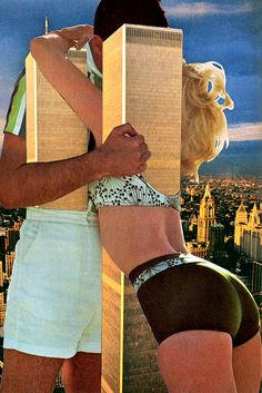 """""""Twin Towers"""" by Eugenia Loli. / AMAZING collage artist, all of her stuff is rad"""